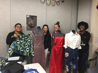 advanced fashion students show off their creations