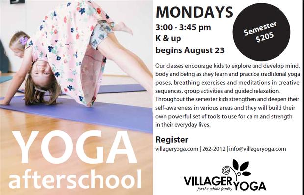 Yoga After School Flyer