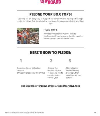 Ya viene la recolección de Box Tops
