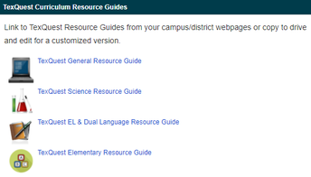 Image of Resource Guides link on texquest.net
