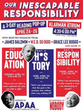 Our Inescapable Responsibility: A Three-Day Reading Pop-up