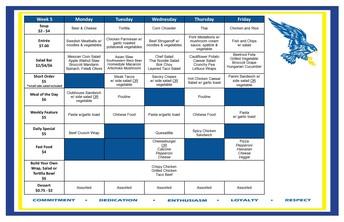 Cafeteria Menu April 26-30