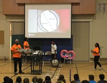 CCAH Steel Pan Band visits EC