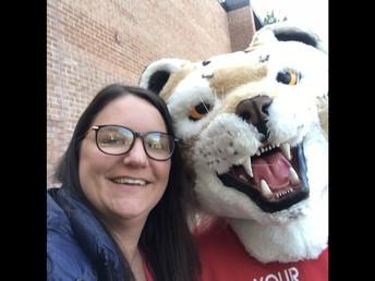 Selfie of Mrs.Daly & Roary