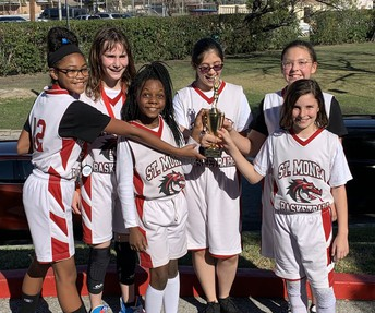 Lady Dragons get FIRST place in Blessed Sacrament Tourney!!