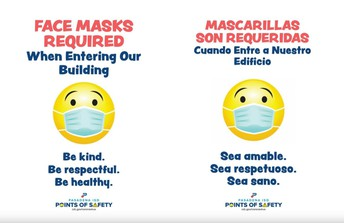 Masks/Face Coverings: