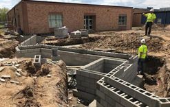 Footings at Taylors Falls Elementary School