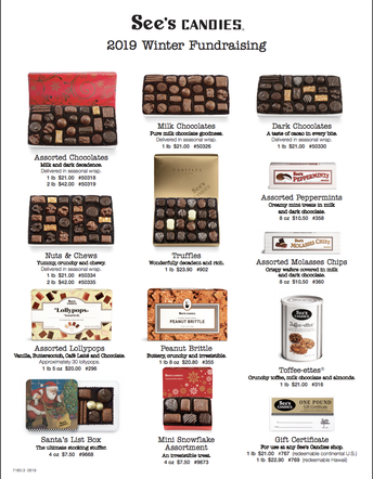 See's Candies Fundraiser (PTA Support) 11/22