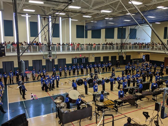 Lake Park Marching Band Performs
