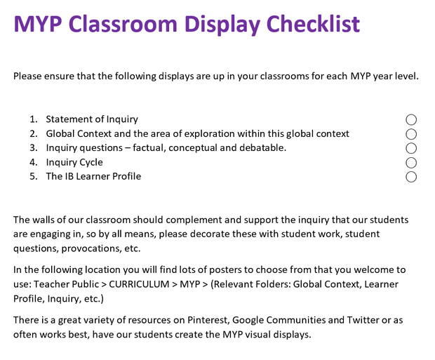 GSLC MYP Snapshot | Smore Newsletters