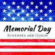 Memorial Day Remember and Honor, banner red, white & blue, stars & stripes