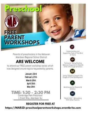 FREE Parent Workshop Series