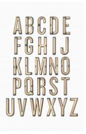 Monogram Sticker Applique - R