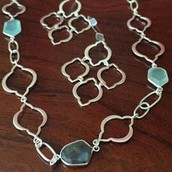 Silver Arabesque Link Necklace - $45 & Earrings - $25