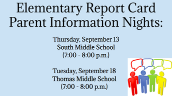 Elementary Report Card Parent Information Nights