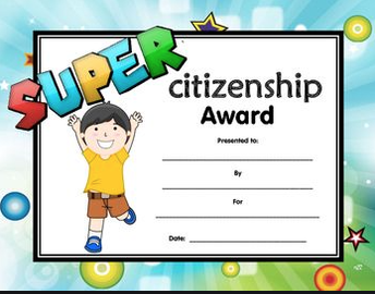 STUDENTS OF THE MONTH — — — —April Super Citizens
