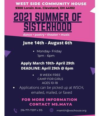 2021 Summer of Sisterhood