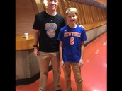 Mr. Findley loses bet to Adler and had to wear a Knicks shirt to school today!