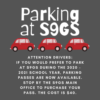 Parking Passes at S9GS