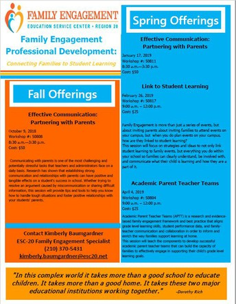 Family Engagement Teacher/Administrator Training