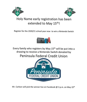 Register by May 15 and have a chance at a Nintendo Switch