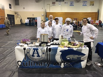 Chef Wright & Culinary Students