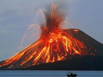This is Mount Pelee erupting
