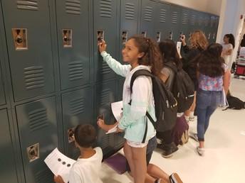 6th Graders Receiving their Lockers!
