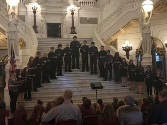Big Spring Cantabile performs at Harrisburg Capitol.