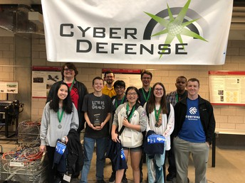 UHS Hyperstream Cyber Defense team takes 2nd at IT Olympics at Iowa State University!