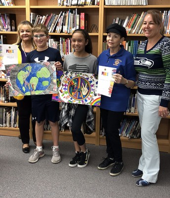 Mrs. Dakus and our Peace Poster winners