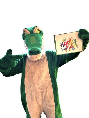 "Rylie the Crocodile says ""Happy Birthday"""