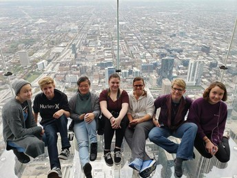 Art Students at the Willis (Sears) Tower