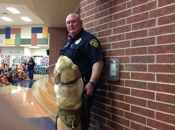Officer & his dog, Toby