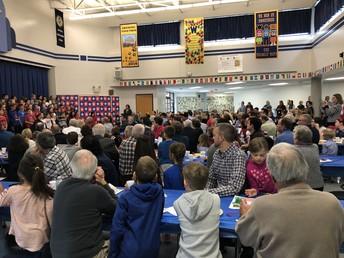 Listening to the 4th Grade Chorus at the Veterans Breakfast