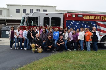 Group photo with the Firemen!