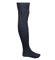 Navy Ribbed Tights