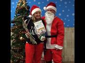 Ho Ho Ho...  A visit from Santa Claus @ last year's party