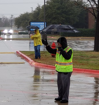 Rain or shine, Mr. Pete was there to help!