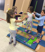 Brewster students cooperatively constructing