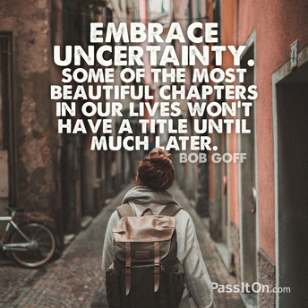 Embracing Uncertainty; Supportive Strategies by Peg Rideout