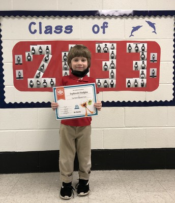 Congrats to Sephiroth Hudgins, Top Math Score, iReady Diagnostic, Mrs. Crawford's Class