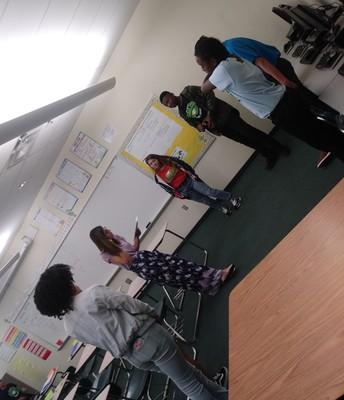 Morning Circles at Dan McCarty Middle School