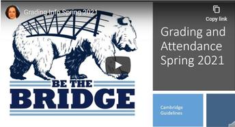 Second Semester Grading and Attendance Guidance