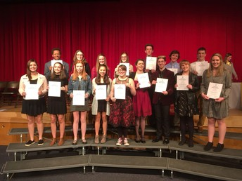 New NHS Inductees