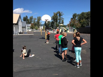 """Mr. Beilby reviewed """"knockout"""" basketball game with his 6th graders - they're loving it!"""