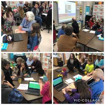 Grandparents Learning with Students using digital tool of Kahoot