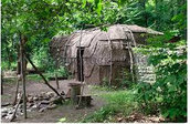 What do you notice in this picture of a longhouse?