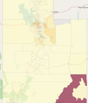 Covid cases in Utah