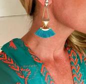 Lotus Tassel Earrings - 4-in-1